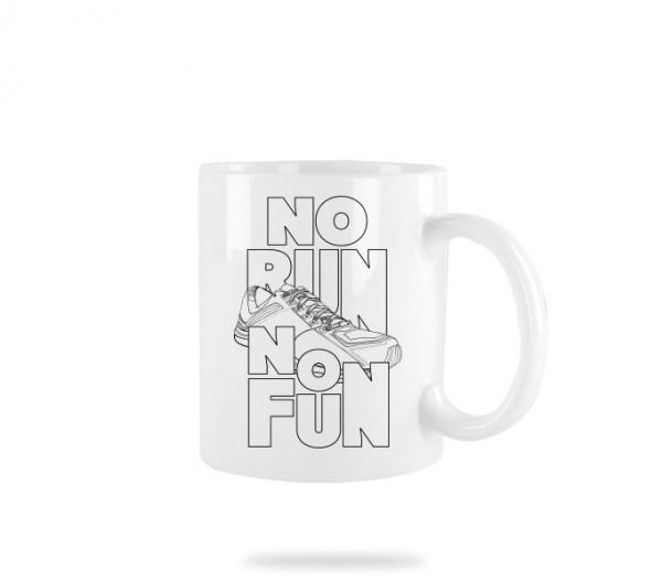 No Run No Fun Tasse