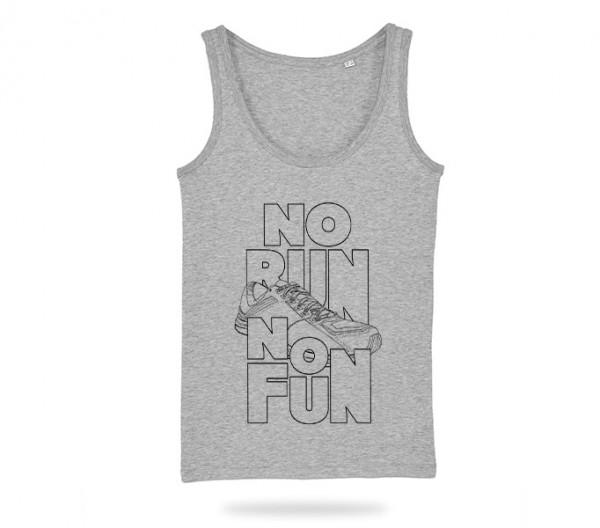 No Run No Fun Tank Top Mädels