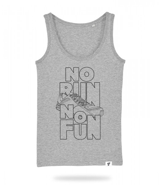 No Run No Fun Tank Top Mädels