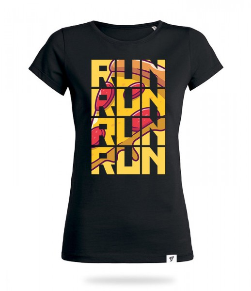 Run for Pizza Shirt Mädels