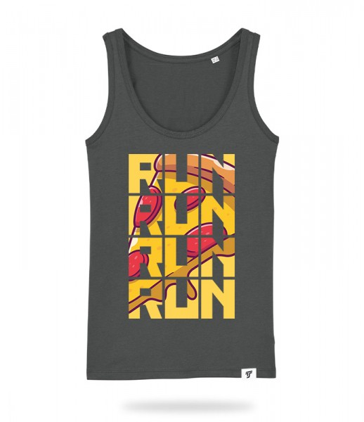 Run for Pizza Tank Top Mädels
