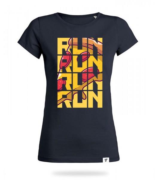 Run for Pizza Shirt Mädels